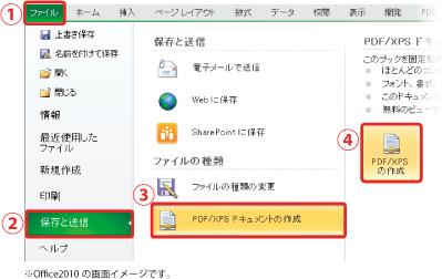 エクセル pdf 変換 カラー